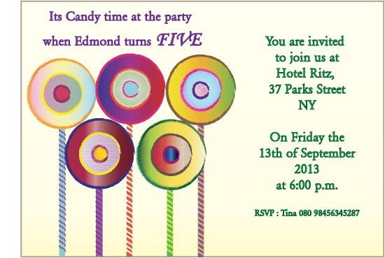 party invitations - Candytime by anupaul