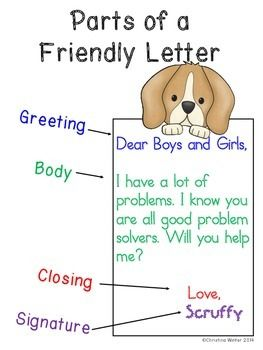 parts of a friendly letter 53 best images about writing friendly letters on 23902
