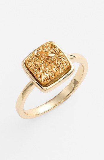 Marcia Moran 'Drusy Extravaganza' Square Ring (Online Only) available at #Nordstrom $78