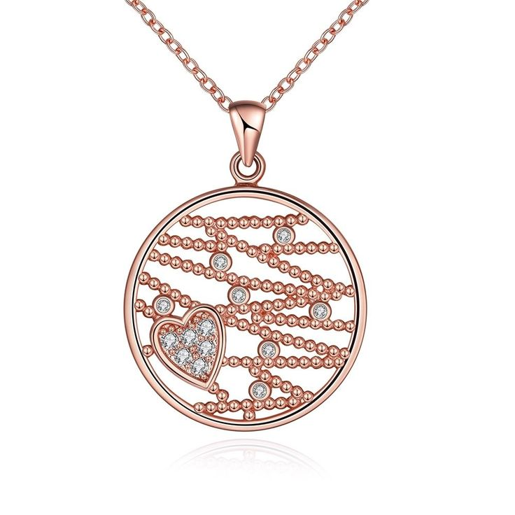Fashion 18K Gold Plated Swarovski Crystal Zircon Hollow Floral Necklace Pendant #fashionhouse818 #Statement