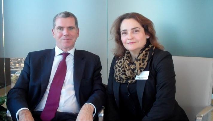 Felipe Bulnes, Embajador de Chile es entrevistado durante su visita en Ohio.