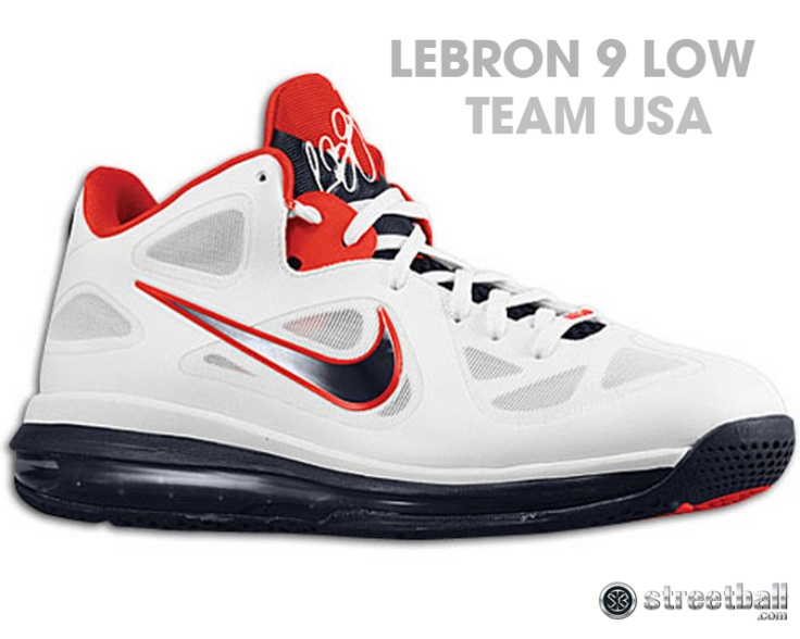 Nike Air Max LeBron 9 Low - Mens - White/Obsidian/University Red/Pure  Platinum discovered on Fantasy Shopper. Find this Pin and more on Basketball  shoes ...