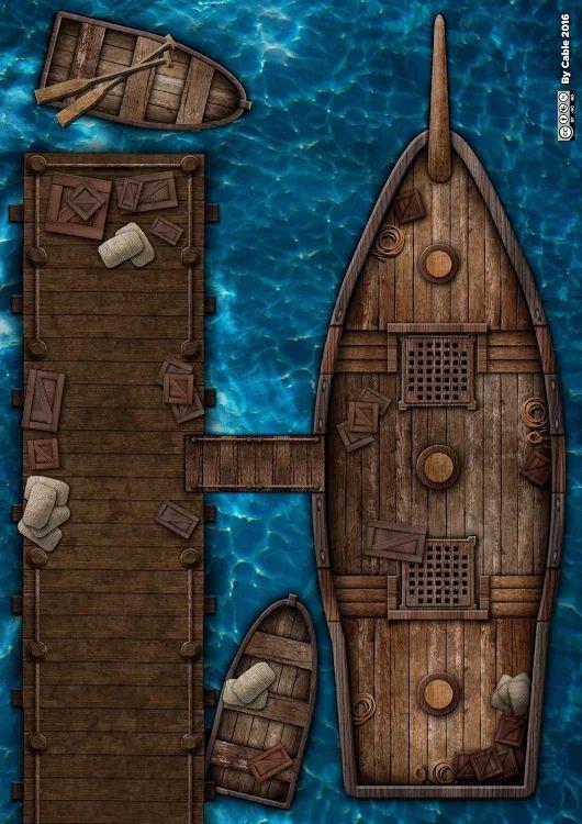Fantasy Map, Dungeons, Dragons, Pirate Maps