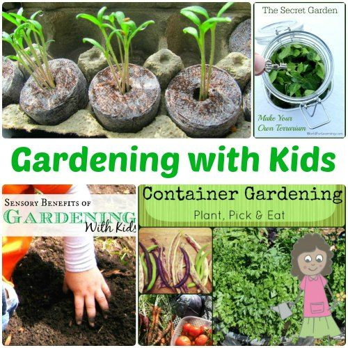 Gardening with Kids Activities - One of the best natural sensory outlets that teaches kids about nature