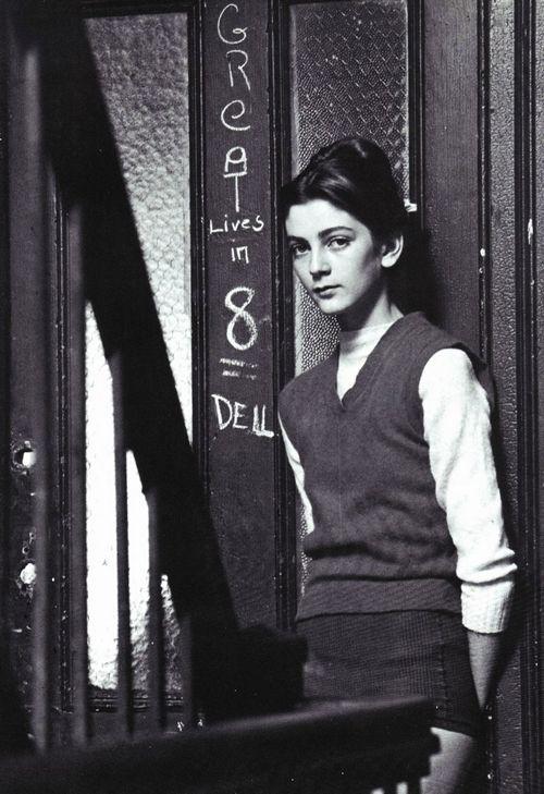 Vogue, 1948. Carmen Dell'Orefice by Erwin Blumenfeld.
