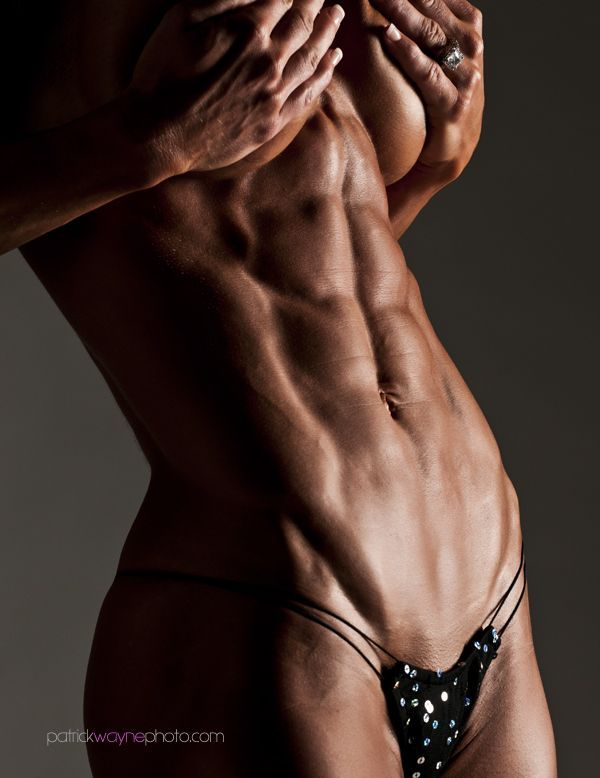 model abs nude woman