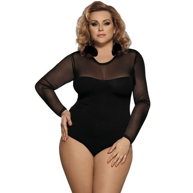 Comeonlover Summer Jumpsuit Woman 2018 Top Femme Plus Size 5XL Fashion  Summer Romper Playsuit Long Sleeve Bodysuit RI80373 1a1611f06