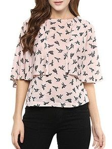 Buy Pink Cotton Layered Top by Miss Chase - Online shopping for Tops in India | 13325741