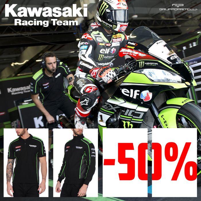 Special Sales: T-shirt, Hoody, Polo Shirt >> Save 50% From 28th September to 2nd October >> On GP Racing Apparel #Kawasaki #JonathanRea #TomSykes
