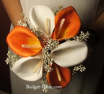 Wedding, Bouquet, Orange, Bridesmaids, Budget-bridecomOrange Colors, Orange Wedding Theme, Burnt Orange, Calla Lilies, Wedding Bouquets, Bridesmaid Dresses, Pretty Wedding, Fall Themed Weddings, Orange Bridesmaid