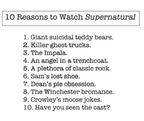 10 reasons to watch Supernatural