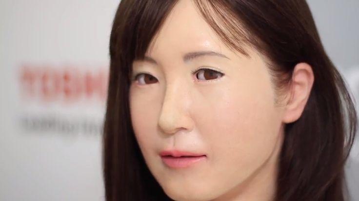 Toshiba Gerçeğe Yakın İletişim Robotu Geliştirdi.