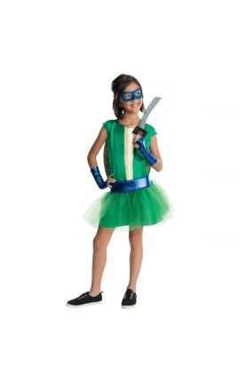 disfraz de leonardo tortugas ninja deluxe para nia