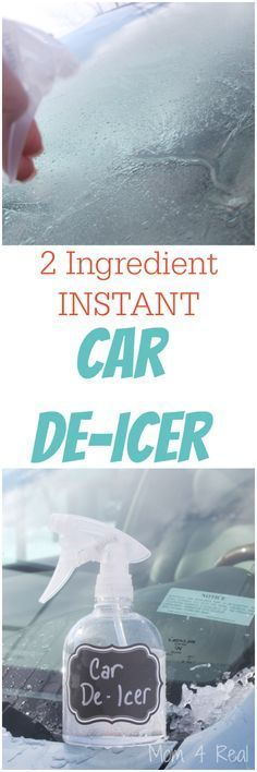 What's a girl to do when her windshield is frozen over and it's oh, 3 degrees outside? She makes her own homemade car de-icer spray. Well, at least that's what this girl did. And...it works like a charm! Let me show you...