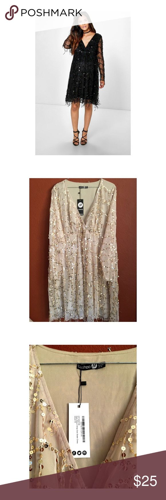 Maternity dress Light brown sequin dress. Prefect for baby shower or any special occasion boohoo maternity Dresses