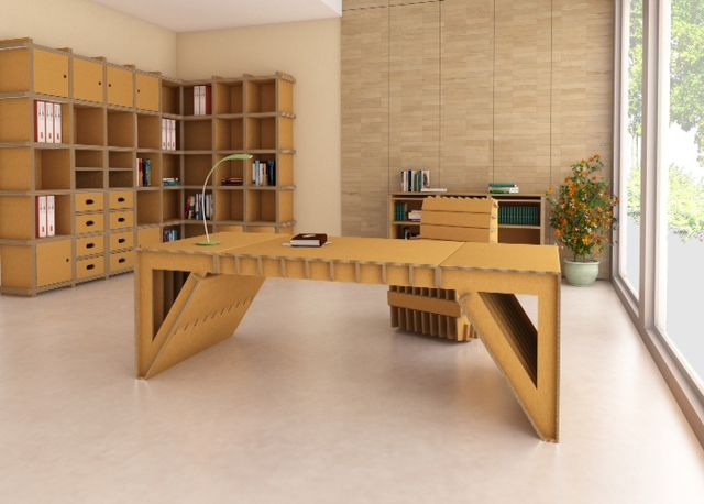 Amazing Cardboard Office Idea