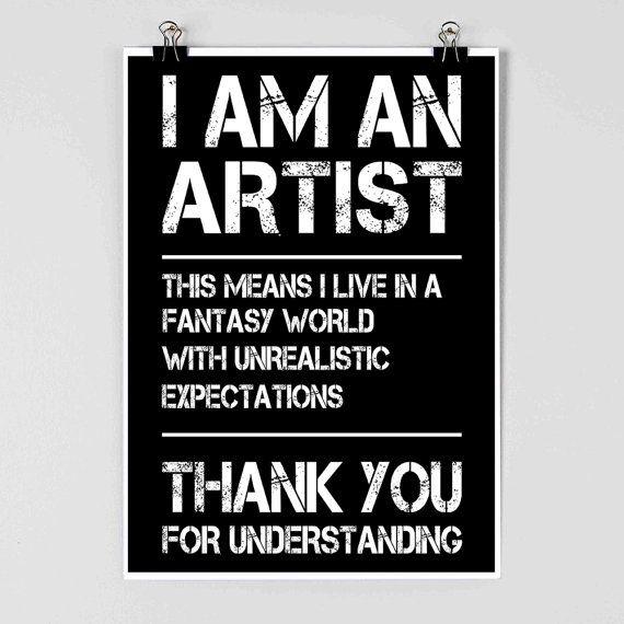 Ik ben een kunstenaar  kunstenaar Poster  grappige Poster