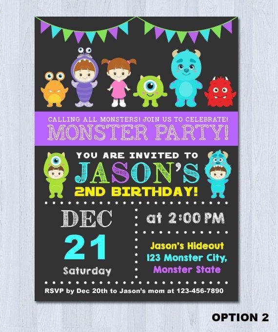 Monster Invitation Monster Birthday Invitation Monster Inc
