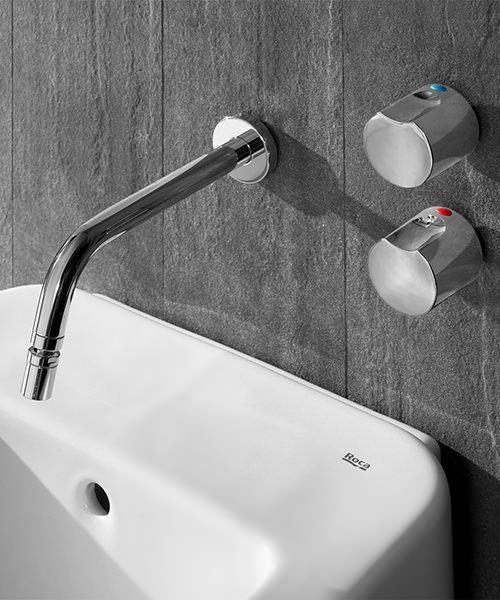 Roca Element Wall Mounted Bidet Mixer Tap