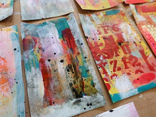 Made by Nicole: Making bright mixed media backgrounds with limited supplies, quickly!