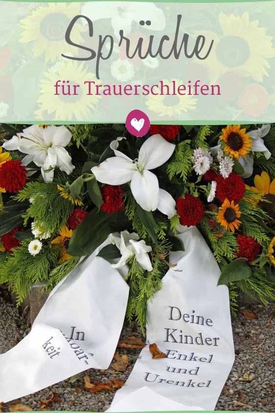 Etwas Neues genug Sprüche für Trauerschleifen: Anteilnahme bekunden | Trauersprüche @WF_61