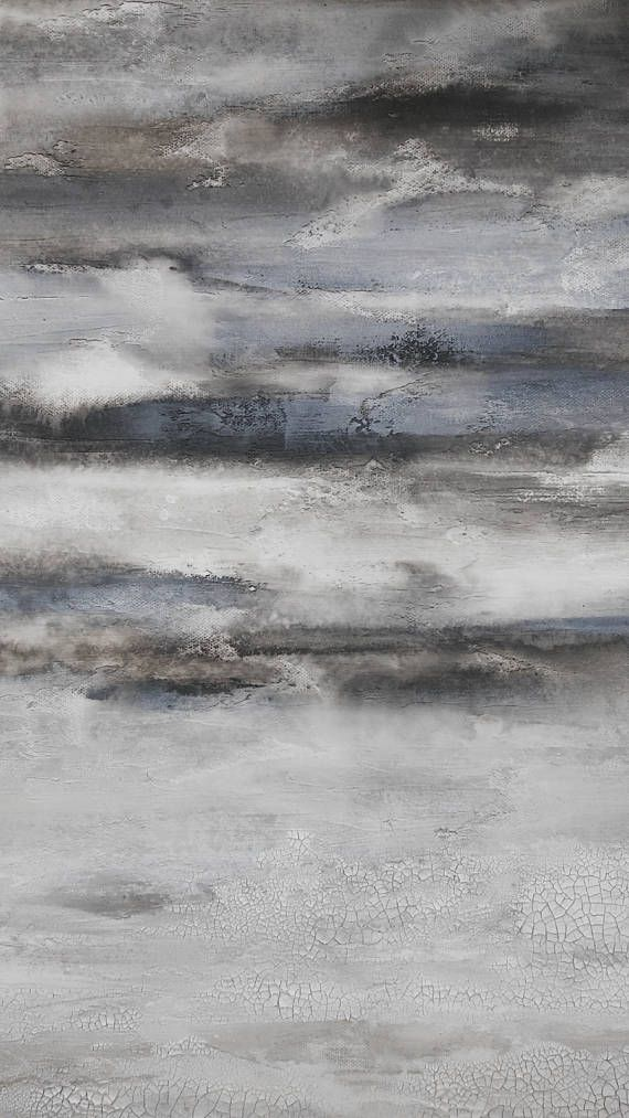 24 x 36 Gray Texture Abstract Painting Minimalist Canvas Wall