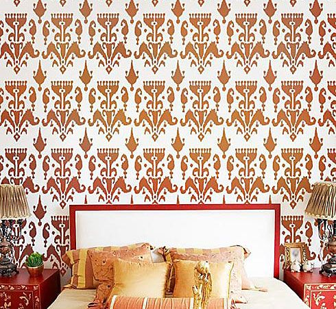 Cutting Edge Stencils - Ikat Bukhara Allover Stencil