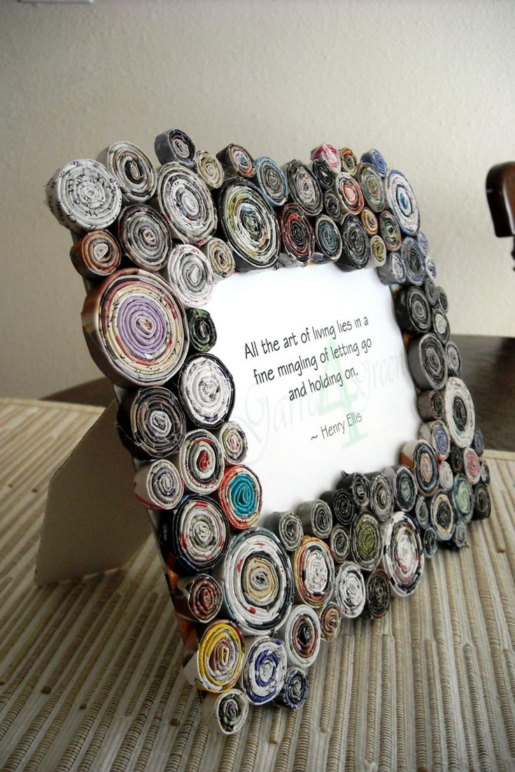 recycled magazines - I get so many magazines, I want to do something with them!