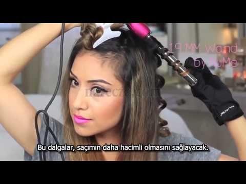 Saçlarınıza Kolayca Dalgalar Verin - YouTube