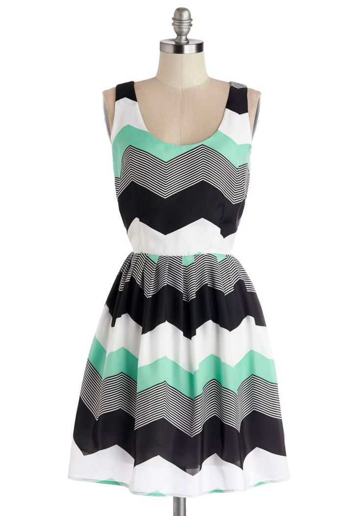 Chillin' in Chi-Town Dress in Mint, #ModCloth