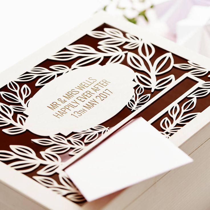 Персонализированные Vine Свадьба Почтовый ящик
