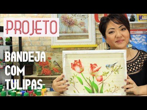 PROJETO | PINTURA COM STENCIL - BANDEJA COM TULIPAS | 06.04.17 | MAYUMI TAKUSHI - YouTube