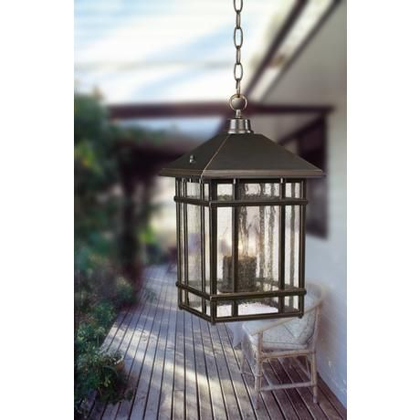 J du J Sierra Craftsman Outdoor Hanging Light $130