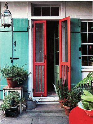 36 best old garden ladders images on pinterest for Split french doors