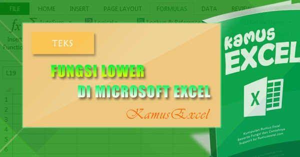 Tutorial Dan Penjelasan Lengkap Mengenai Cara Menggunakan Rumus Excel Atau Fungsi Excel Lower Beserta Dengan Contoh Penggunaannya Microsoft Excel Microsoft