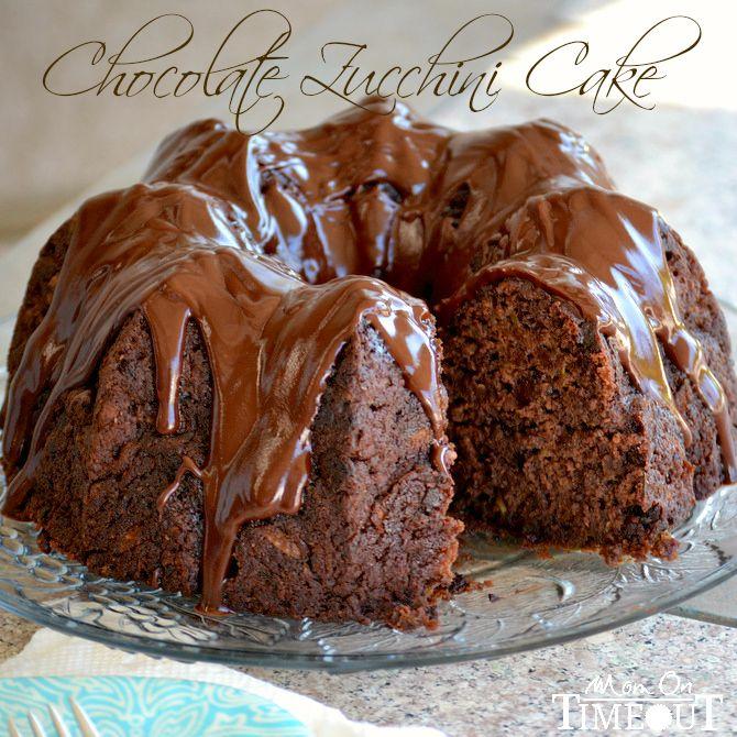 Chocolate Zucchini Cake from MomOnTimeout.com