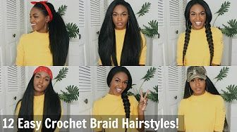 Crochet Braids with a Knotless Part Outre X-Pression Dominican ...