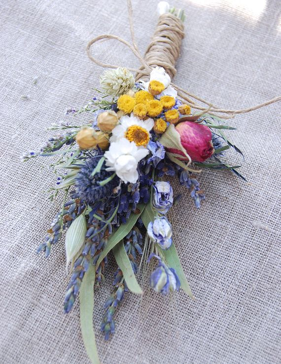 Peony Garden Boutonniere  Pin On or Wrist Corsage of Multi