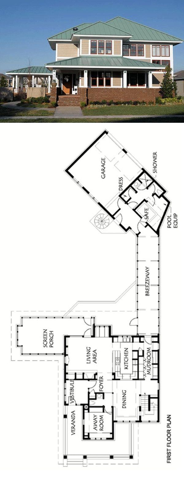 7 best prairie house plans images on pinterest prairie for Prarie house plans