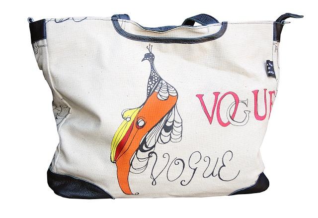Birds in Vogue baby bag by Victoria Verbaan & the Smoking daxi