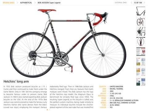 Cyclepedia - Iconic Bicycle Designs  iPad: Design Ipad, Bicycle Design, Bicycles Design, Bikes, Ipad Coff, Cyclepedia, Book, Ipad App, Design App