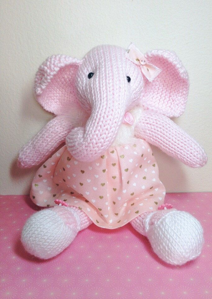 A personal favourite from my Etsy shop https://www.etsy.com/uk/listing/475453392/hand-knitted-elephant