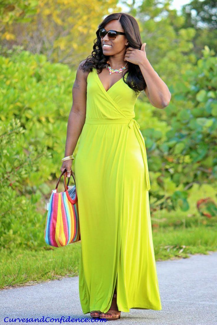 summer neon wrap dress