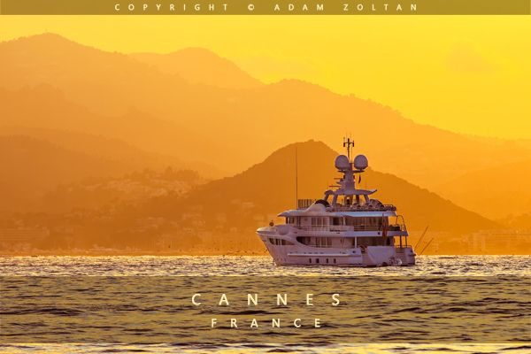 Sunset in Cannes, France