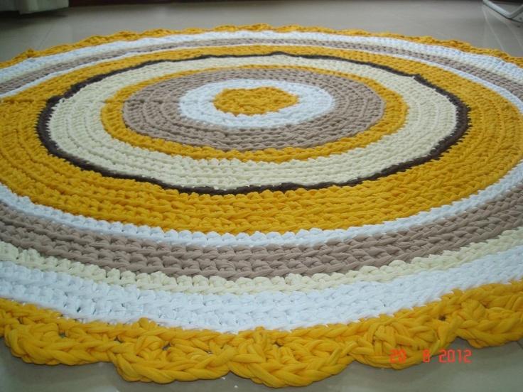 Alfombra de totora tejida al crochet mundo amanda - Mundo alfombra ...