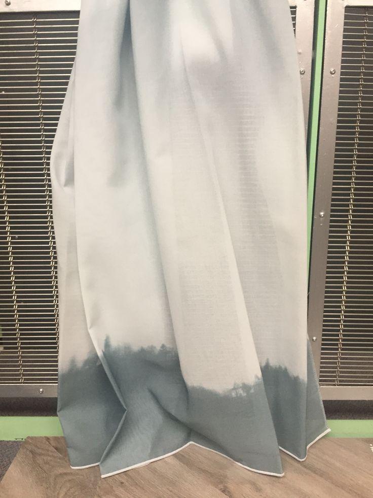 Inbetween gordijn met  dip-dye effect, Vivante Nadilla. In de kleuren blauw, grijs of roze