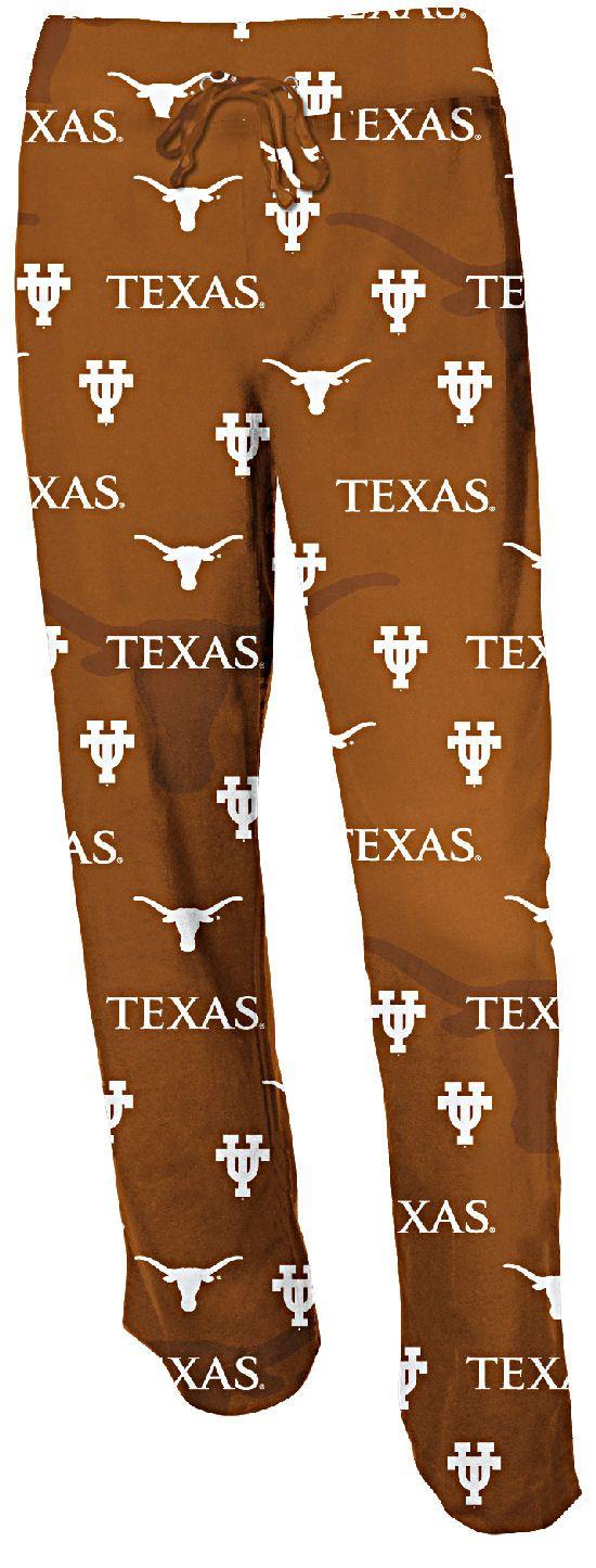 Texas Longhorns Womens Burnt Orange Keynote College Pajama Pants $27.95