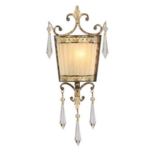 La Bella Vintage Gold Leaf Sconce