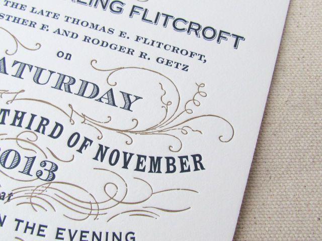 Wedding Invitation Trend Bold Fonts