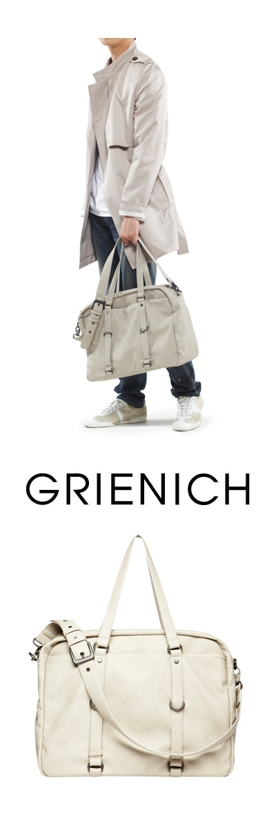 Valentine Day Gift - GRIENICH BLEECKER COLLECTION WEEKEND BAG LIGHT GRAY